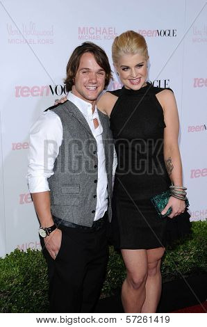 Louie Vito and Kelly Osbourne  at the 8th Annual Teen Vogue Young Hollywood Party, Paramount Studios, Hollywood, CA. 10-01-10