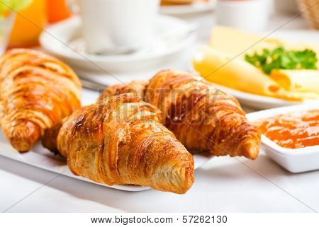 Fresh Croissants And Jam