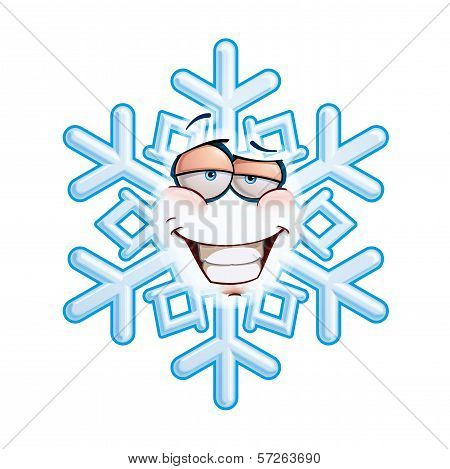 Snowflake Emoticon - Smug