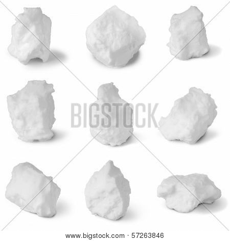 Nine White Snowball  (clipping Path)
