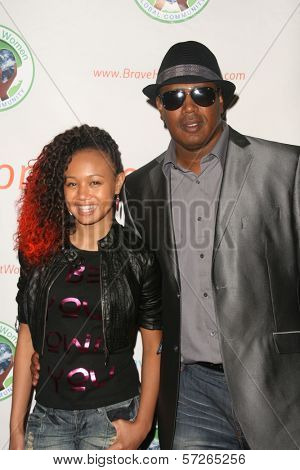 Cymphonique Miller and Master P at the 2010 BraveHeart Awards, Hyatt Regency Century Plaza Hotel, Century City, CA.  10-09-10
