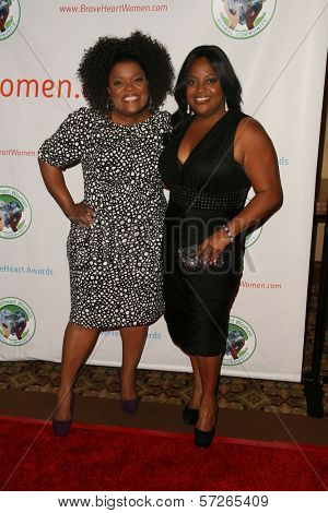 Yvette Nicole Brown and Sherri Shepherd  at the 2010 BraveHeart Awards, Hyatt Regency Century Plaza Hotel, Century City, CA.  10-09-10