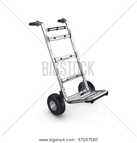Hand Truck Tilted And Empty