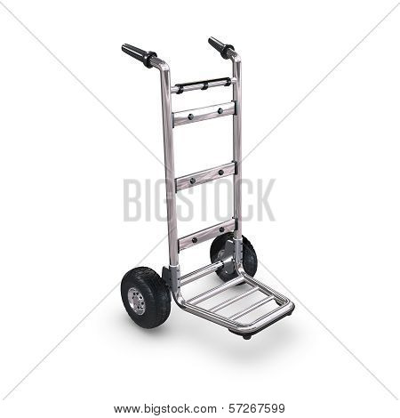 Hand Truck Upright And Empty