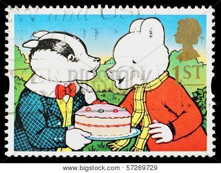 Britain Rupert Bear Postage Stamp