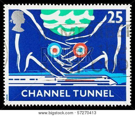 Britain Channel Tunnel Postage Stamp