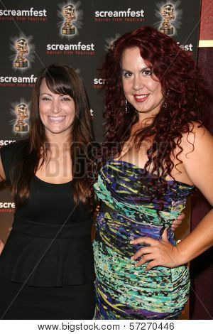 Courtney Zito and Fileena Bahris  at a screening of