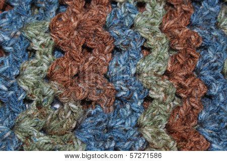 Striped Crochet Fabric