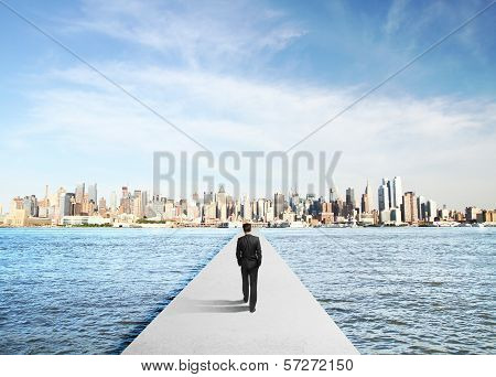 Businessman In Suit Walking