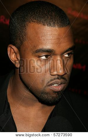 Kanye West at the Los Angeles Premiere of Kanye West's film debut