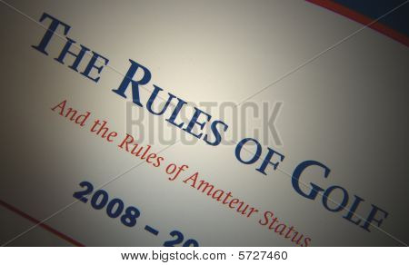 Las reglas del golf.