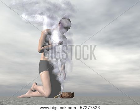 Fog of cigarette smoke - 3D render