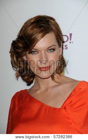 Milla Jovovich at the 14th Annual Hollywood Awards Gala, Beverly Hilton Hotel, Beverly Hills, CA. 10-25-10