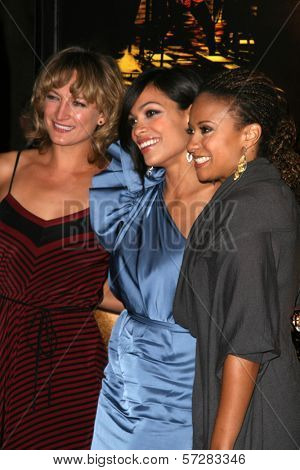 Zoe Bell, Rosario Dawson and Tracie Thoms at the