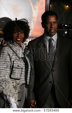 Pauletta Washington, Denzel Washington  at the