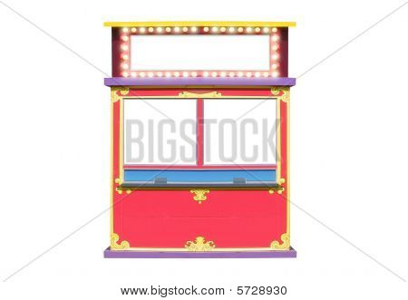 Circus Carnival Ticket Booth Stand