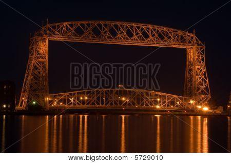 Duluth Late Night Aerial Lift Bridge