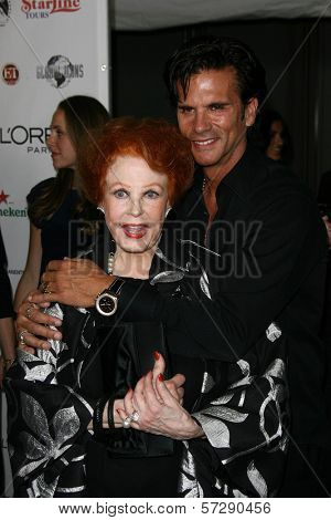 Arlene Dahl and Lorenzo Lamas at thr Hollywood Walk of Fame's 50th Birthday Bash,  Kodak Theater Grand Ballroom, Hollywood, CA. 11-03-10