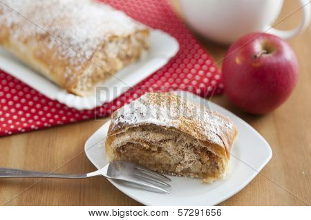 home made apple strudel