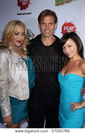 Jennifer Blanc, Casper Van Dien, Danielle Harris at the