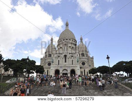 PARIS,FRANCE-AUGUST19-Basilica Sacre Coeur in Paris