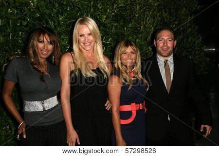 Traci Bingham, Gena Lee Nolin, Nicole Eggert and David Weintraub at the Baywatch Reunion Dinner, XIV Restaurant,  West Hollywood, CA.  08-19-10