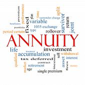 pic of accumulative  - Annuity Word Cloud Concept with great terms such as investment rollover income and more - JPG