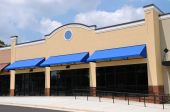 pic of shopping center  - Store Front in a New Shopping Center - JPG