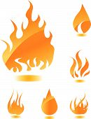 Постер, плакат: Оранжевый глянцевый огонь