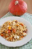 Autumn Couscous Salad with pumpkin and feta cheese