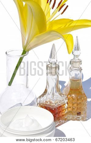 Yellow Lily And Oil