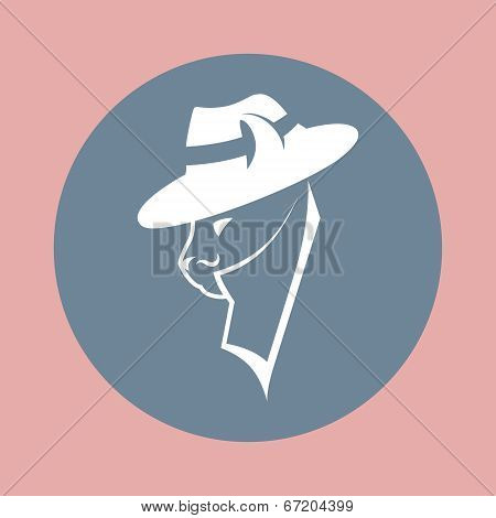 gangster cat in the mafia hat