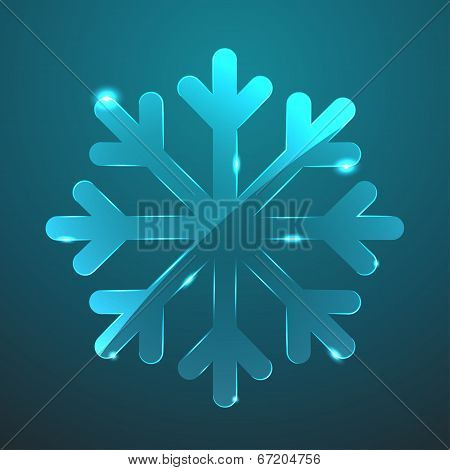 Vector Glass Snowflake Icon