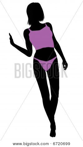 Woman Lingerie Silhouette