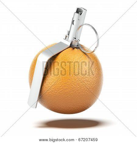 Orange With Grenade Detonator