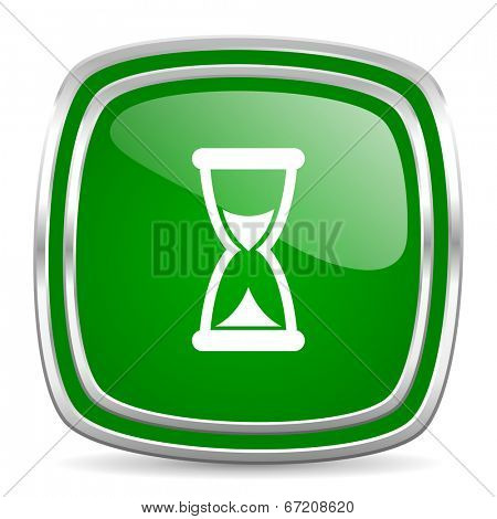 time glossy computer icon on white background