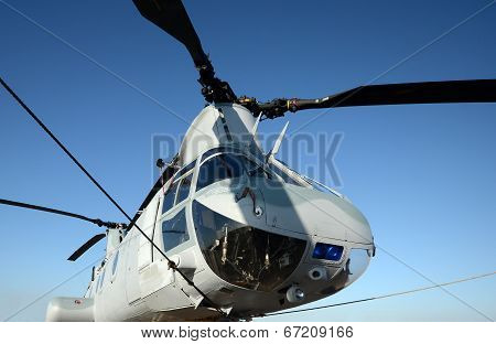 Military Helicopter Nose View