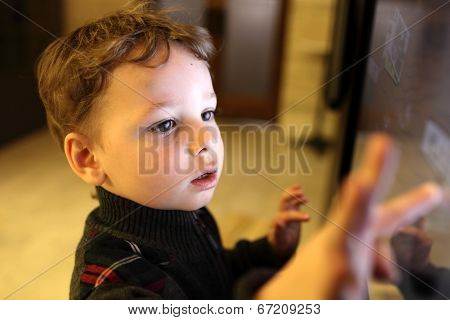 Kid Using Touch Screen