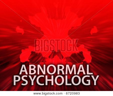 Abnormal Psychology Inkblot Background