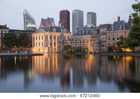 Evening View On Binnenhof Palace