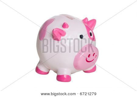 Feo rosado y blanco hucha