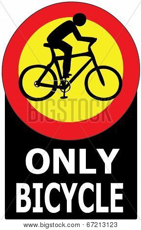 Only Bicycle Passing Allowed Sign Label