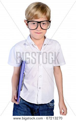 Young Nerd Boy