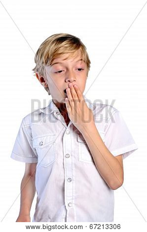 Young Boy On White