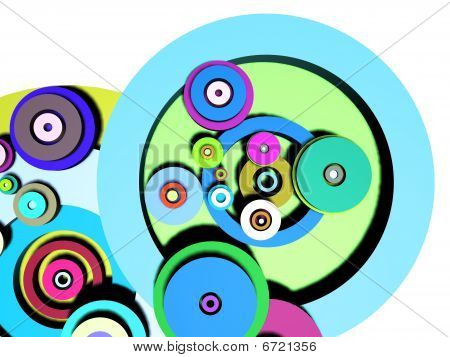 Multicolored circles