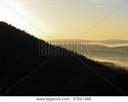 Sunrise Over The Vosges Mountains