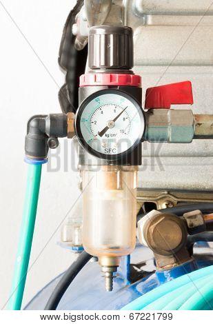 Pressure Gauge And Air Filter Regulator