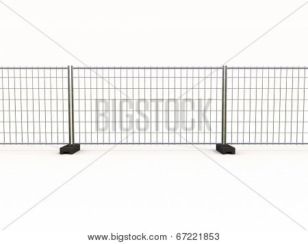 Wire mesh fence isolated on a light background