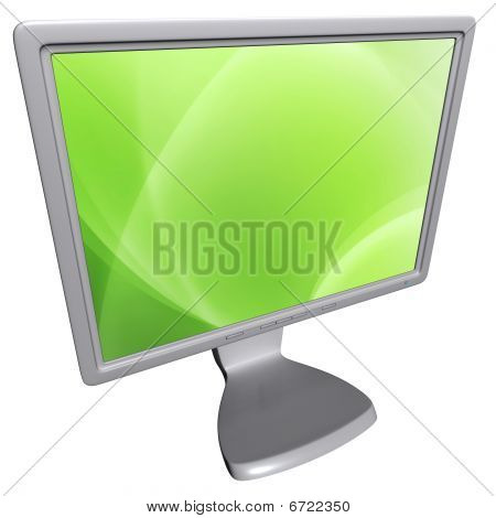 Computer screen (3D rendering)