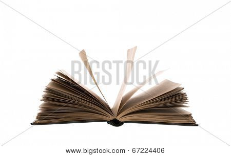 Open book isolated on white background  (with clipping work path)